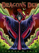 Disney Paintings Maleficent/dragons Den Limited To 95 Copies Canvas Zikre