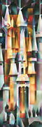 Disney Paintings Cinderella/majestic Palace Limited To 195 Copies Canvas Zikre