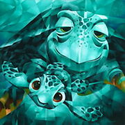 Disney Paintings Nemo Nimo/serious Thrill Isho Limited To 195 Copies Canvas