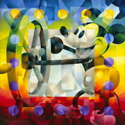 Disney Paintings Mickey Mouse/steamship Willie Limited To 295 Copies Canvas