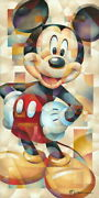 Disney Paintings Mickey Mouse/famous Pose Limited To 195 Copies Canvas Zikre