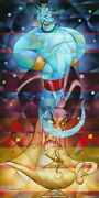 Disney Paintings Aladdin/master Of The Lamp Limited To 195 Copies Canvas Zikre