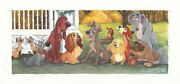 Disney Paintings Dog Story/dogs Life Limited To 195 Copies Canvas Zikre Picture