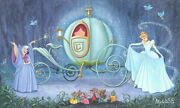 Disney Paintings Cinderella/fit Pho Ball Limited To 95 Copies Canvas Zikre
