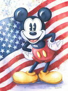 Disney Paintings Mickey Mouse/american Mouse Limited To 50 Copies Canvas Zikre