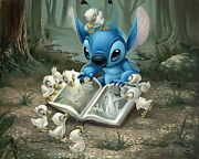 Disney Paintings Lilo Stitch/friends Of Feather Limited To 195 Copies Canvas