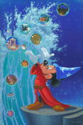 Disney Paintings Mickey Mouse/magical Sea Limited To 195 Copies Canvas Zikre