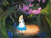 Disney Paintings Alice In Wonderland Grinning Cat Limited To 195 Copies Canvas