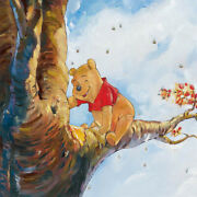 Disney Paintings Pooh The Bear/out On Rim Limited To 95 Copies Canvas Zikre