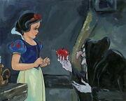 Disney Paintings Snow White And The Witch Limited To 50 Copies Canvas Zikre