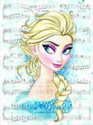 Disney Paintings Frozen/let It Go Limited To 195 Copies Canvas Zikre Picture