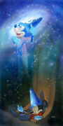 Disney Paintings Mickey Mouse/flight Tu Fantasy Limited To 195 Copies Canvas