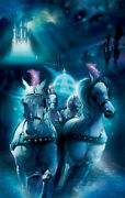 Disney Paintings Cinderella/racing Midnight Limited To 95 Copies Canvas Zikre