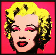 Andy Warhol Marilyn Monroe Pink 1967 Poster With Hook For Exhibition Pop