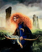 Disney Paintings Merida And The Forest Of Sedori/brave Limited To 195 Copies
