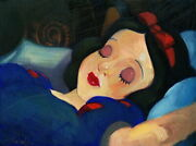 Disney Paintings Snow White Limited To 95 Copies Canvas Zikre Picture Frame