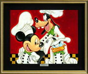 Disney Mickey Friends/toe Menie Certificate Of Work With Hook For Exhibition