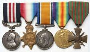 Great Britain Wwi Military Medal Croix De Guerre And Trio To Royal Artillery.