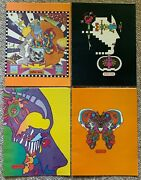 Vintage 60s 70s Peter Max Psychedelic Book Covers Mid Century Modern Posters