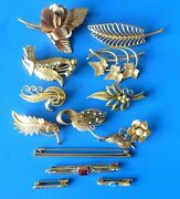 Antique Vintage Gold Plated Jewelry Jewels Lot Bijoux Anciens Broches Plaque Or