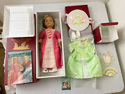 American Girl Doll Elizabeth Spring Gown Accessories With Box