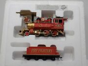 Hawthorne Village Fire Fighters Heroes Express Locomotive And Tender Free Shipping