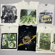 Vintage 90s The Beatles T Shirt Lot Art Tee Bundle Of 6 Xl And L Front/back Apple