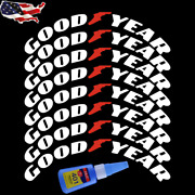 8x Goodyear Tire Lettering Decal Sticker 1.38 For 15-24 With Glue