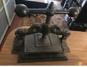 antique 19th Century Cast Iron Classical Dolphin Bookbinders Book Binders Press