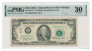 United States Banknote 100 1963a Chicago Fr2163-g Pmg Vf 30 Star Note