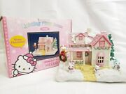 Hello Kitty Writing Fiber House Christmas Pink With Co-box Discontinued /19b