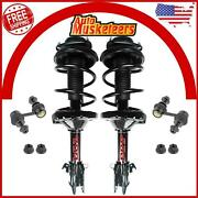 Front Complete Strut And Sway Bar Link 4pcs Set For 2010 2011 2012 Subaru Outback