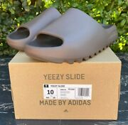 Yeezy Slide Soot Size 10 Kanye Adidas G55495 New |free And Fast Shipping|