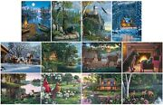 Jigsaw Puzzle Multipack 12 Assorted Rustic Landscapes Scenes And Animals New