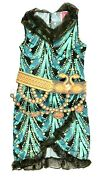 New Youth Girls L Monster High Cleo De Nile Costumes 2 Pc Dress And Belt Free Ship