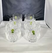 Set Of 6 Very Rare Waterford Curraghmore Crystal Old Fashion Glasses