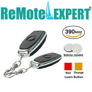2 For Liftmaster 971lm 973lm Car Garage Door Opener Remote 390mhz Mini Keychain