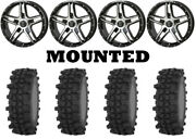 Kit 4 Frontline Acp Tires 37x9.5-22 On Frontline 505 Machined Wheels Can