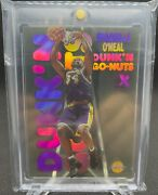 1998-99 Skybox E-x Century - Shaquille Oand039neal - Dunkand039n Go-nuts - Rare Insert