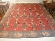 Fantastic Chinese Antique Embroidered Silk Textile 8 Immortals  Large Wall Hang