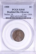 1955 Doubled Die Obverse Lincoln Wheat Cent Pcgs Xf45 Free Shipping Kcfwx