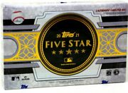 2021 Topps Five Star Baseball Hobby 8 Box Case Blowout Cards