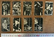 Vintage Rare Pro Wrestlers Rikidozan Black And White 9 Sheets Of 8 Kinds Of Menko