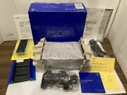 Sony Playstation2 Scph-50000 Midnight Black Manufacturer Discontinued Production