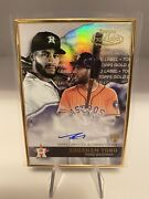 2020 Topps Gold Label Abraham Toro Framed Autograph Rc Gla-at