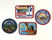 Lot Of 4 Trail S End Boy Scout Patches Statue Of Liberty 25 Years Popcorn Bsa