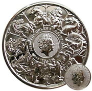 ++ Queens Beast 2021 - Completer Coin - 2oz Silber / Ag ++