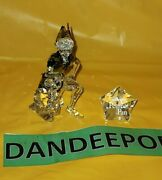Disney Peter Pan Crystal Rare Retired Figurine And Plaque 1077772