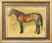 Portrait Of A Bay Hunter Horse Early 20th Century - By Lionel Ellis 1903-1888