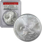 2021 S Type 2 American Silver Eagle Ms 70 Pcgs First Strike Emergency Issue